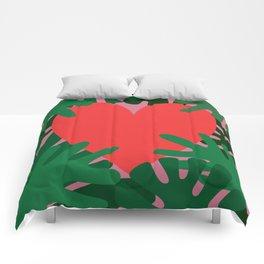 Wild Does My Love Grow Comforters