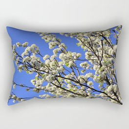 Blue Sky Pear Blossom Rectangular Pillow