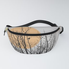 Birds and tree silhouette Fanny Pack