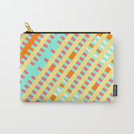 African Inspired Tropical Thatch Print Carry-All Pouch