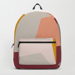 Abstract Geometric 27 Red Backpack
