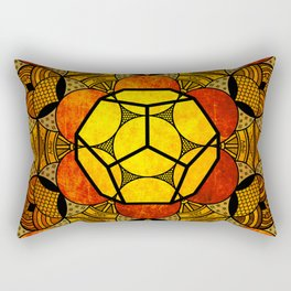Sacred Geometry for your daily life -  Platonic Solids - ETHER COLOR Rectangular Pillow