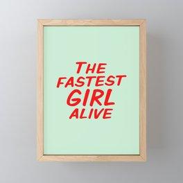 The Fastest Girl Alive Framed Mini Art Print