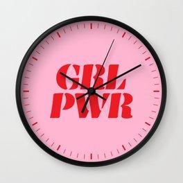 Girl Power GRL PWR Wall Clock