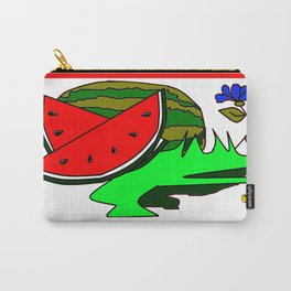A Watermelon Picnic with Checkered tablecloth Carry-All Pouch