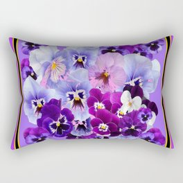 PANTENE PURPLE PANSY GARDEN   DECORATIVE ART DESIGN Rectangular Pillow
