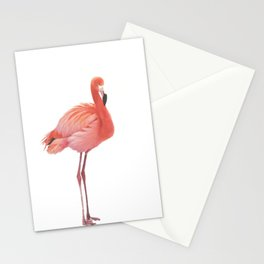 FLAMINGO IN THE SNOW Stationery Cards