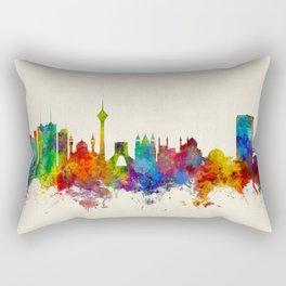 Tehran Iran Skyline Rectangular Pillow