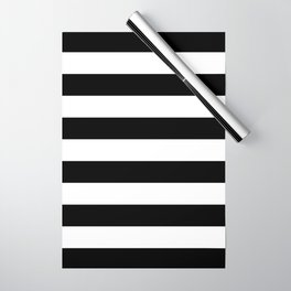 Black Bold Stripes Wrapping Paper