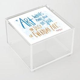 Picasso Quote Acrylic Box