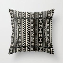 Boho Mud cloth (Black and White) Throw Pillow