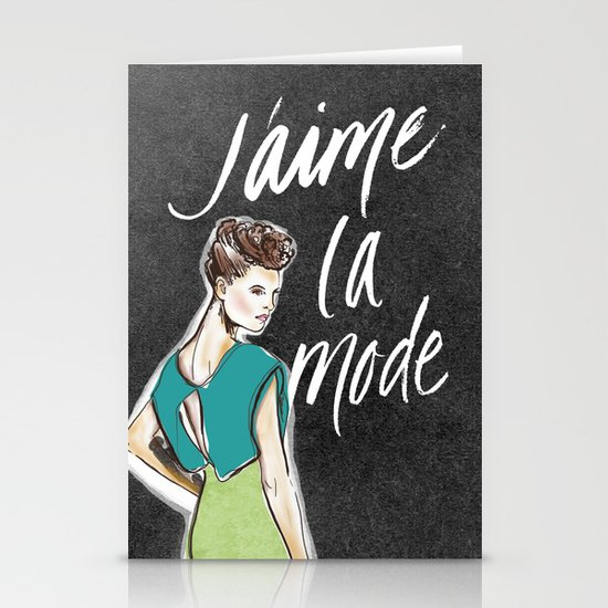 I Love Fashion Stationery Cards