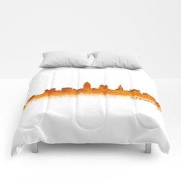 Cleveland City Skyline Hq V2 Comforters