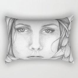 Tiffani the Angel B&W Rectangular Pillow
