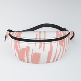 Pretty Pink Brush Stripes Vertical Fanny Pack