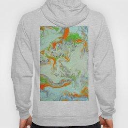 Bright Orange Marble Print - Colorful Graphic Art Hoody