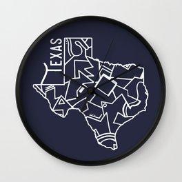 Texas Strong (Dark Blue) Wall Clock