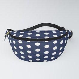 Navy Blue Polka Dot Fanny Pack