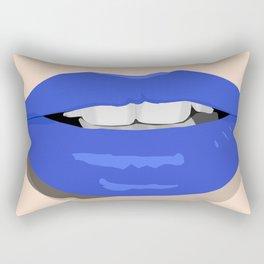 Blue Lips Rectangular Pillow