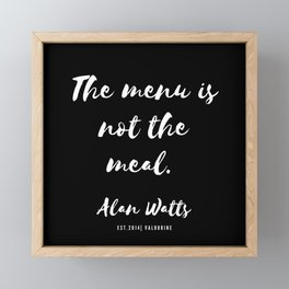 10  |  Alan Watts Quote 190516 Framed Mini Art Print