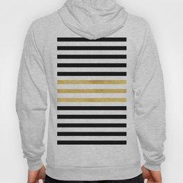 Luxurious zebra golden black lines Hoody