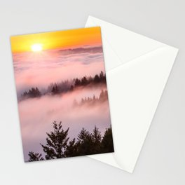 Bolinas Ridge Foggy Sunset Stationery Cards