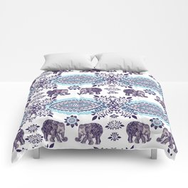 Boho Elephant Pattern Comforters