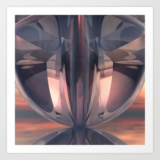 Abstract Reflections Art Print
