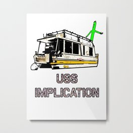 USS Implication Metal Print