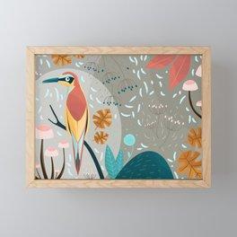 Fall in the forest Framed Mini Art Print