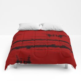 Black Grunge on Red Comforters