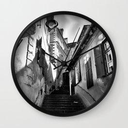 Sibiu B&W Wall Clock