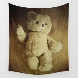 Old Teddy Bear Wall Tapestry