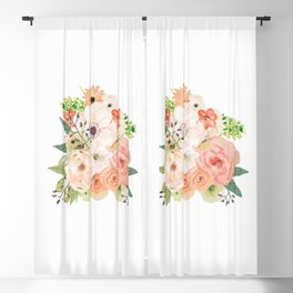 Pink bloom Blackout Curtain
