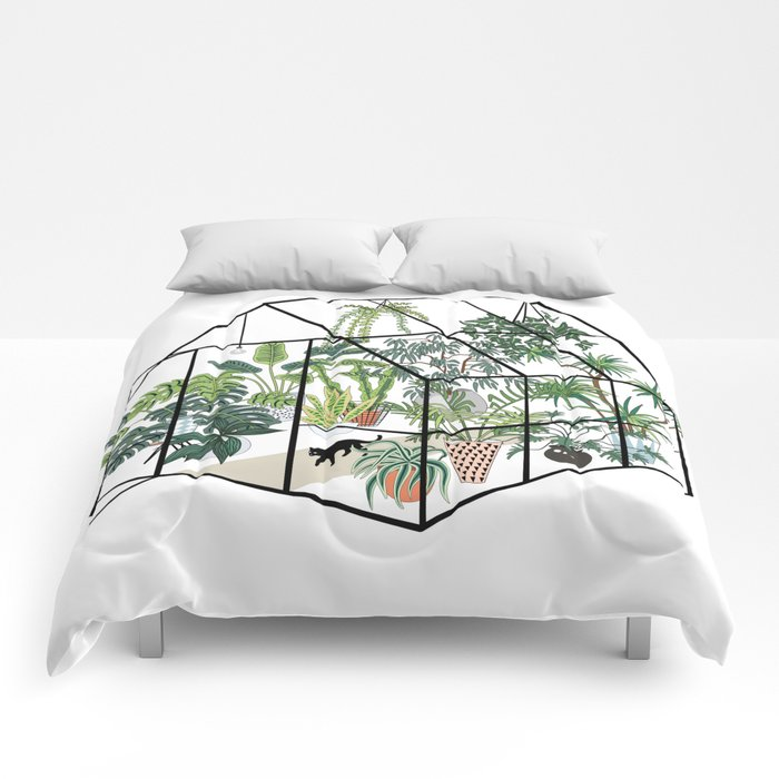 greenhouse with plants Comforters