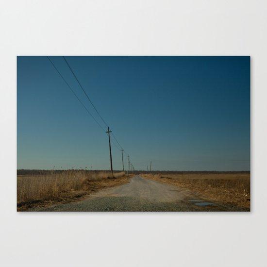 Road to the Bridge to Nowhere, Stafford, NJ Canvas Print