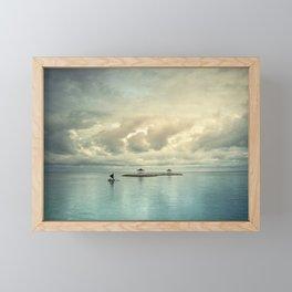 the art of silence Framed Mini Art Print