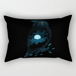 The Owl and the Forest Rectangular Pillow