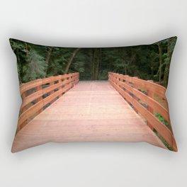Red Cedar Hiking Bridge Rectangular Pillow