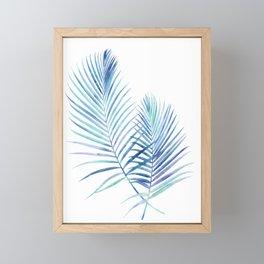 Feathery Palm Leaves Framed Mini Art Print