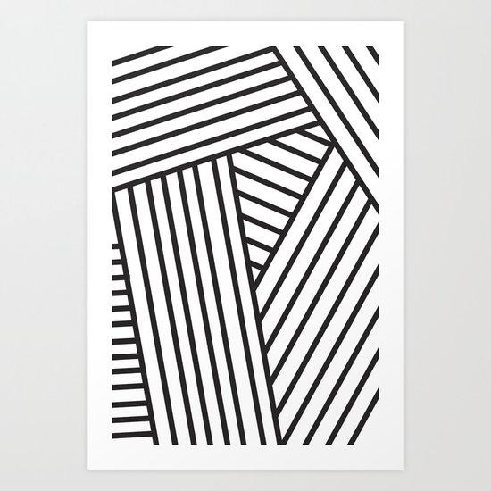 Optical Stripes Art Print