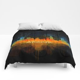 Atlanta City Skyline UHq v4 Comforters