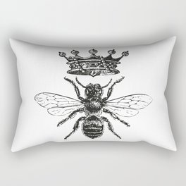 Queen Bee | Black and White Rectangular Pillow