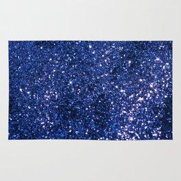 Sparkling DARK BLUE Lady Glitter #1 shiny #decor #art #society6 Rug
