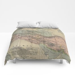 Map of Macedonion Empire Middle East Plan of Tyre from 332 BC Comforters