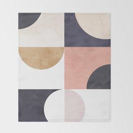 Geometric Moontime 1 Throw Blanket