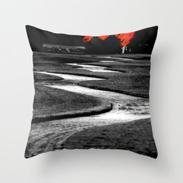 Where We'll Meet At The Big Red Tree Throw Pillow