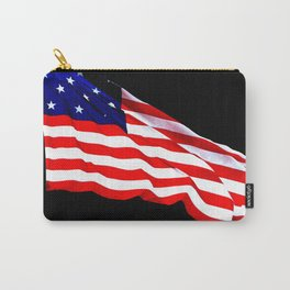 These Colors Never Run - American Flag Patriotic, Red White & Blue, Stars & Stripes, Old Glory Carry-All Pouch