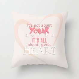 All About Your Heart. Throw Pillow