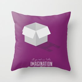 Never Forget to Play - Cardboard Box Throw Pillow